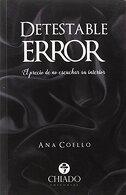 portada Detestable Error - Ana Coello - Chiado Editorial
