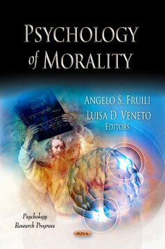 portada Psychology of Morality (Psychology Research Progress, Ethical Issues in the 21St Century) (libro en inglés)