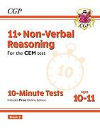 New 11+ cem 10-Minute Tests: Non-Verbal Reasoning - Ages 10-11 Book 2 (libro en inglés)
