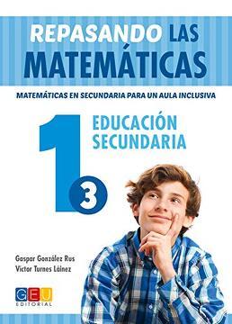 portada Repasando las Matemáticas 1. 3 - Matemáticas en Secundaria Para un Aula Inclusiva