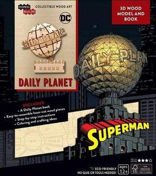 portada Incredibuilds: Dc Comics: Superman: Daily Planet 3d Wood Model and Book (libro en Inglés)