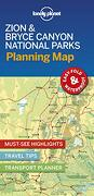 Lonely Planet Zion & Bryce Canyon National Parks Planning map (libro en Inglés)