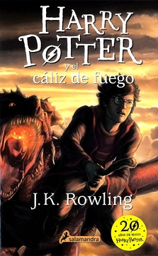 portada Harry Potter y el Caliz de Fuego