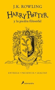 portada Harry Potter y la Piedra Filosofal ( Hufflepuff )20 Aniversario