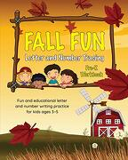 Fall fun Letter and Number Tracing: Pre-K Workbook (Fall Books for Kids Ages 3-5) (libro en Inglés) - Brown Lab Editors Of Little - Little Brown