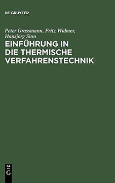 portada Einführung in die Thermische Verfahrenstechnik (libro en Alemán)
