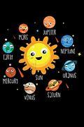 Mars Jupiter Neptune Uranus Saturn Venus Mercury Earth Sun: Kids Learn the Planets Solar System Lined Notebook Journal Diary 6x9 (libro en Inglés)
