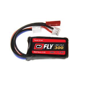 Venom Fly 30C 2S 300mAh 7.4V LiPo Battery with JST and E-flite PH Plug (new)