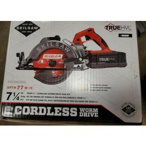 """Skilsaw SPTH77M-12 7-1/4"""" TRUEHVL Cordless Worm Drive Saw Kit w/Batt+Charger New (new)"""